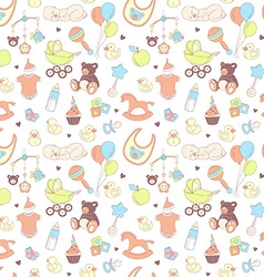 bashower seamless pattern texture for bagirl vector image