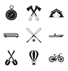 Big muscle icons set simple style vector