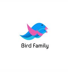 bird family logo vector image