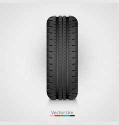 Black rubber tire on white background vector