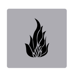 blue emblem fire icon vector image