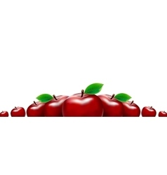 Border of red apples Template for your design vector