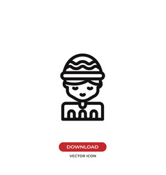 boy icon vector image
