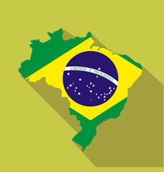 Brazil cartoon flat icon landmark vector