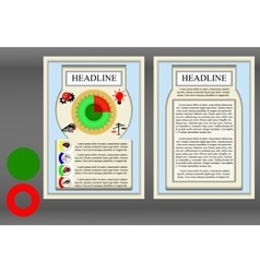 Brochure frame a diagram vector image