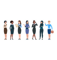 Business woman characters isolated professional vector