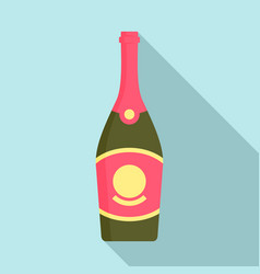 cabernet champagne icon flat style vector image