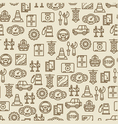Car travel seamless pattern - travel background vector