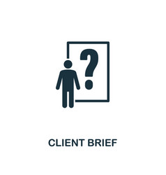 client brief icon premium style design from vector image