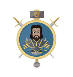 coat arms shield with swords vector image
