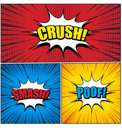 comic book pages set vector image