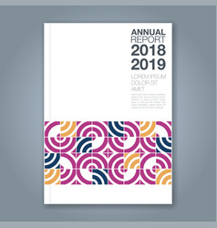 cover annual report 812 vector image