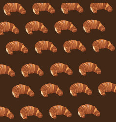 Croissant pastry bakery product a delicious vector