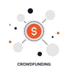 Crowdfunding flat concept vector