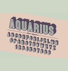 decorative vintage retro typeface font typeface vector image