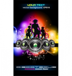 Discotheque Dj event flyer vector