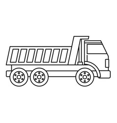 dumper truck icon outline vector image