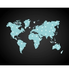Earth and lights icon World and Map design vector
