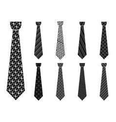 elegant tie icon set simple style vector image