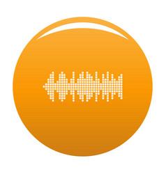 Equalizer wavy radio icon orange vector