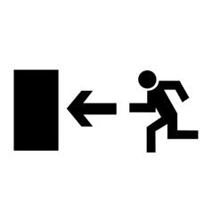 exit - black icon vector image
