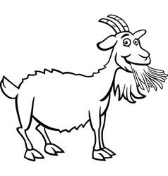 farm goat cartoon for coloring book vector image