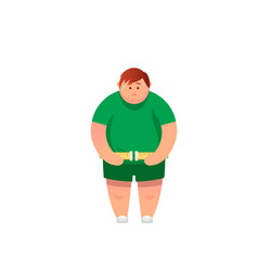 fat man cartoon vector image