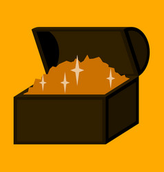 Flat icon on stylish background treasure chest vector
