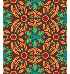 Floral ethnic fall pattern vector image