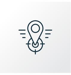 Geo targeting icon line symbol premium quality vector