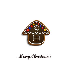 Gingerbread chocolate house vector