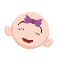 Happy baby face icon image vector