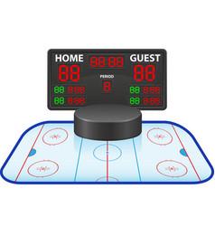 Hockey sports digital scoreboard vector