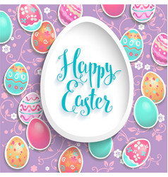 holiday easter frame vector image