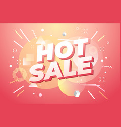 hot sale banner special offer vector image