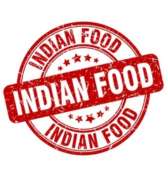 Indian food red grunge round vintage rubber stamp vector