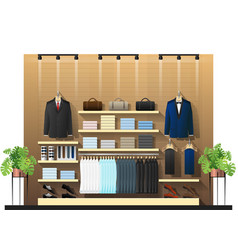 interior scene of men clothing store vector image
