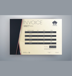 Invoice template design in red theme vector