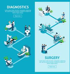 Isometrics healthcare and innovative technologies vector