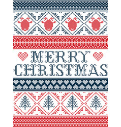 merry christams pattern scandinavian style vector image