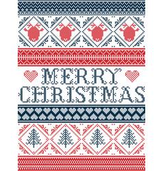 Merry christams pattern scandinavian style vector