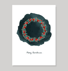 merry christmas decorative vintage greeting card vector image