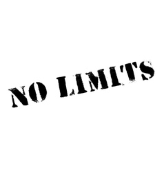 No limits stamp vector image