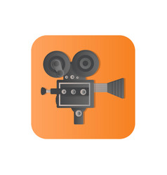 old camcorder flat icon vector image