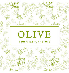 olive with leaves on white background seamless vector image