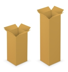 Open box yellow vector image
