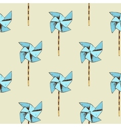 Paper windmill pattern vector