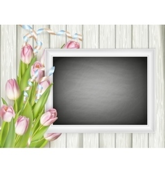 Picture frame with chalkboard EPS 10 vector