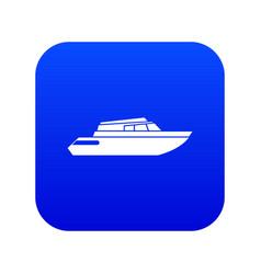 Planing powerboat icon digital blue vector