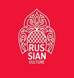 Poster of russian culture isolated images vector